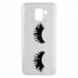Чохол для Samsung J6 Eyelashes