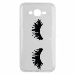 Чохол для Samsung J7 2015 Eyelashes