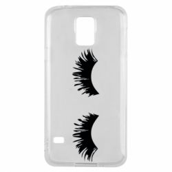Чохол для Samsung S5 Eyelashes