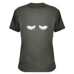 Камуфляжна футболка Eyelashes