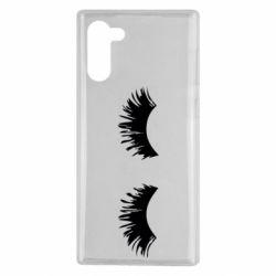 Чохол для Samsung Note 10 Eyelashes