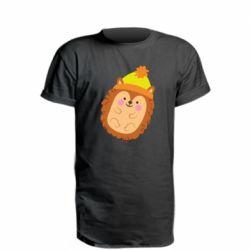 Подовжена футболка Їжачок в шапочці