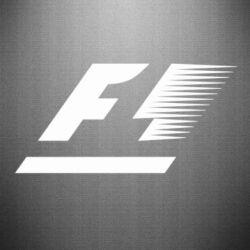 Наклейка F1