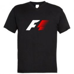 Мужская футболка  с V-образным вырезом F1 - FatLine