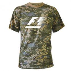 Камуфляжная футболка F1 - FatLine
