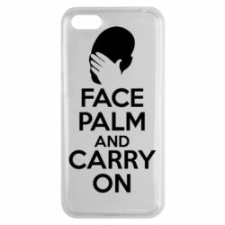 Чехол для Huawei Y5 2018 Face palm and carry on - FatLine