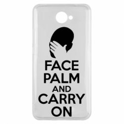 Чехол для Huawei Y7 2017 Face palm and carry on - FatLine