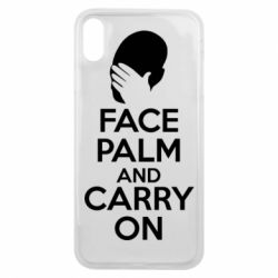 Чехол для iPhone Xs Max Face palm and carry on - FatLine