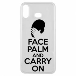 Чехол для Samsung A6s Face palm and carry on - FatLine