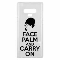 Чехол для Samsung Note 9 Face palm and carry on - FatLine