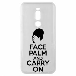 Чехол для Meizu Note 8 Face palm and carry on - FatLine