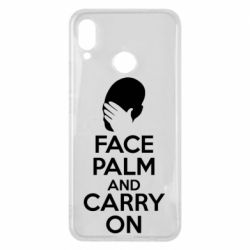 Чехол для Huawei P Smart Plus Face palm and carry on - FatLine