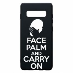 Чехол для Samsung S10+ Face palm and carry on