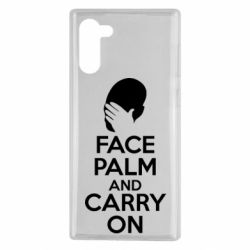 Чехол для Samsung Note 10 Face palm and carry on