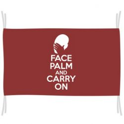 Флаг Face palm and carry on