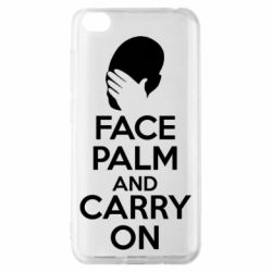 Чехол для Xiaomi Redmi Go Face palm and carry on