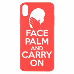 Чехол для iPhone X Face palm and carry on - FatLine