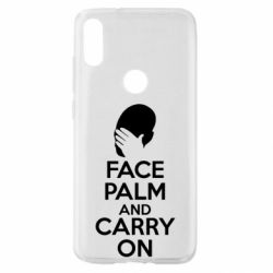 Чехол для Xiaomi Mi Play Face palm and carry on