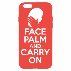 Чехол для iPhone 6/6S Face palm and carry on - FatLine