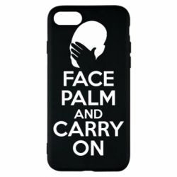 Чехол для iPhone 7 Face palm and carry on - FatLine