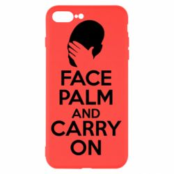 Чехол для iPhone 7 Plus Face palm and carry on - FatLine
