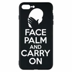 Чехол для iPhone 8 Plus Face palm and carry on - FatLine