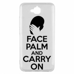 Чехол для Huawei Y6 Pro Face palm and carry on - FatLine