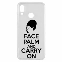 Чехол для Huawei P20 Lite Face palm and carry on - FatLine