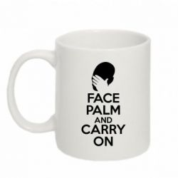 Кружка 320ml Face palm and carry on