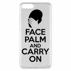 Чехол для Xiaomi Mi Note 3 Face palm and carry on - FatLine