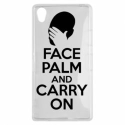 Чехол для Sony Xperia Z1 Face palm and carry on - FatLine