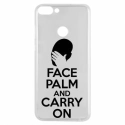 Чехол для Huawei P Smart Face palm and carry on - FatLine