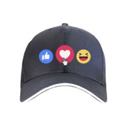 Кепка facebook reactions