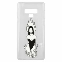 Чехол для Samsung Note 9 Faceless girl with crystals