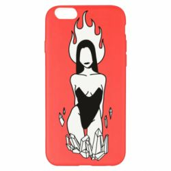 Чехол для iPhone 6 Plus/6S Plus Faceless girl with crystals