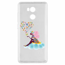 Чехол для Xiaomi Redmi 4 Pro/Prime Fairy sits on a flower with butterflies