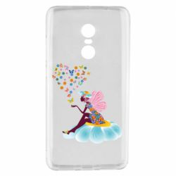 Чехол для Xiaomi Redmi Note 4 Fairy sits on a flower with butterflies