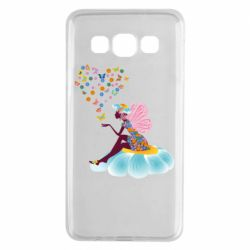 Чехол для Samsung A3 2015 Fairy sits on a flower with butterflies