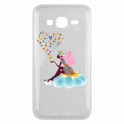 Чехол для Samsung J5 2015 Fairy sits on a flower with butterflies