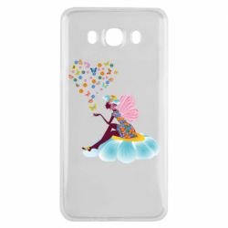 Чехол для Samsung J7 2016 Fairy sits on a flower with butterflies