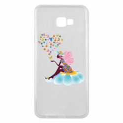 Чехол для Samsung J4 Plus 2018 Fairy sits on a flower with butterflies