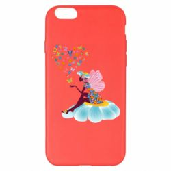 Чехол для iPhone 6 Plus/6S Plus Fairy sits on a flower with butterflies