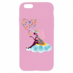 Чехол для iPhone 6/6S Fairy sits on a flower with butterflies