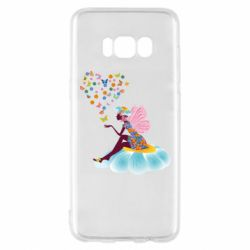 Чехол для Samsung S8 Fairy sits on a flower with butterflies
