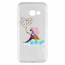 Чехол для Samsung A3 2017 Fairy sits on a flower with butterflies