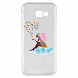 Чехол для Samsung A5 2017 Fairy sits on a flower with butterflies