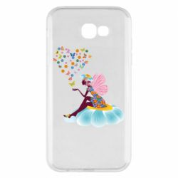 Чехол для Samsung A7 2017 Fairy sits on a flower with butterflies