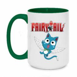 Кружка двоколірна 420ml Fairy tail Happy