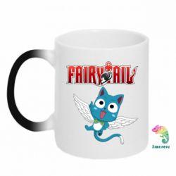 Кружка-хамелеон Fairy tail Happy