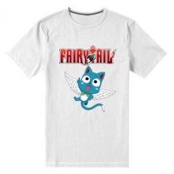 Чоловіча стрейчева футболка Fairy tail Happy